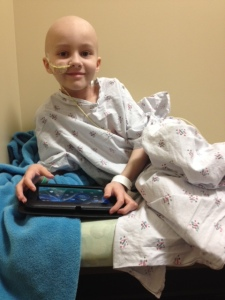 Waiting for his first radiation treatment